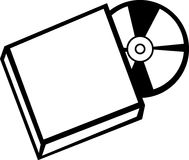 Cd with case vector illustration Royalty Free Stock Images