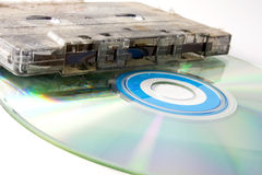 CD and cassette Royalty Free Stock Photography