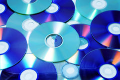 CD, CD-ROM and DVD. Closeup of a pile of CD, CD-ROM and DVD Royalty Free Stock Photos
