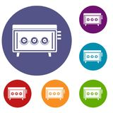 CD changer icons set Royalty Free Stock Photos
