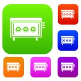 CD changer set color collection Stock Photography