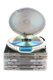 CD-chapista con Cdes. Imagen de archivo libre de regalías