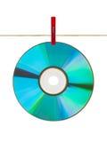 CD on clothespin Stock Photos