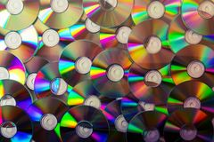 Cd collection background Royalty Free Stock Photo