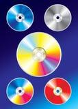 Cd coloridos Imagens de Stock