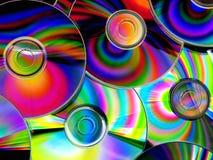 Cd coloridos Fotografia de Stock Royalty Free