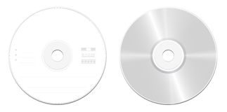 CD Compact Disc Front Back Stock Photo