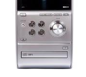 CD compacto e leitor de cassetes do sistema estereofônico foto de stock royalty free