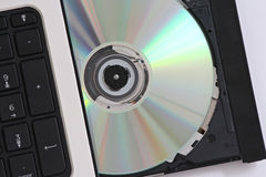 CD into a computer Royalty Free Stock Photography