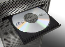 Cd in a computert Royalty Free Stock Photo