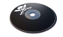 Cd con concepto de software pirateado Imagenes de archivo