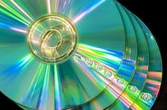 CD con las gotitas de agua foto de archivo libre de regalías