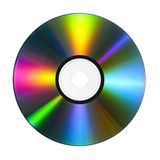 CD con reflexiones coloridas fotos de archivo libres de regalías