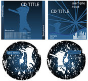 CD cover. Vector illustration of cd cover royalty free illustration