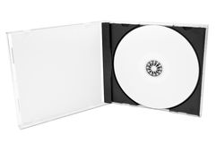Cd Cover with blank disc Stock Photo