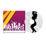 Cd and cover with dancing girl vector. Illustration vector illustration