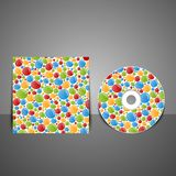 CD cover design with colorful bubbles. Stock Image