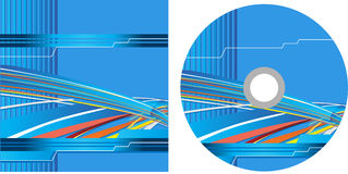 CD cover design with copy space, . Royalty Free Stock Images