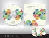 Cd cover design template. Abstract background. Stock Photos