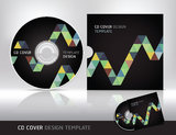 Cd cover design template. Abstract background. Stock Photography