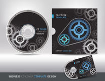 Cd cover design template. Abstract background. Stock Image