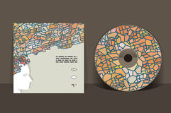 CD cover design template Royalty Free Stock Photos