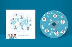 CD cover design template. Business network Royalty Free Stock Photos