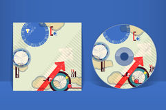 CD cover design template Royalty Free Stock Image