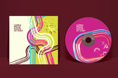 CD cover design template Royalty Free Stock Images