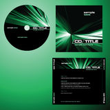 CD cover design vector Royalty Free Stock Images