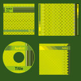 Cd cover green design. Template for green cd cover printed matter Royalty Free Stock Photo