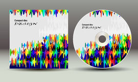 CD cover presentation design template Stock Image