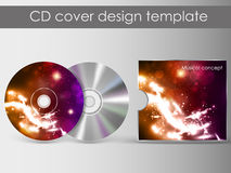 Cd cover presentation design template Royalty Free Stock Photo