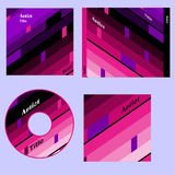 Cd cover retro design Stock Photos