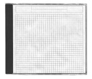 Cd cover with squared paper. Isolated on white stock photo