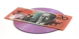 CD d'acquisto, DVD Immagini Stock