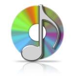 CD da música ilustração royalty free