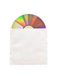 CD dans l'enveloppe de papier Photo stock
