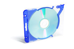 CD dans le boîtier en plastique Photo libre de droits