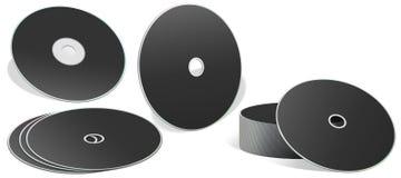 CD de blanc dans différents types Photographie stock