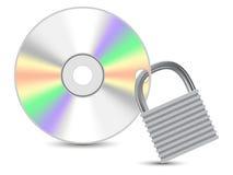 CD de données protégées Image libre de droits