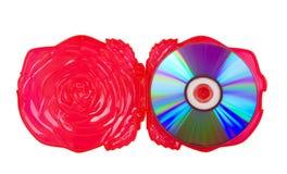 CD in de doos als nam toe royalty-vrije stock afbeeldingen