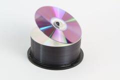 CD de DVD blanc Photos stock