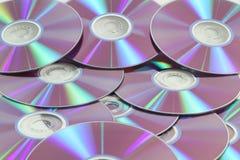CD de DVD blanc Image libre de droits