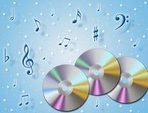 Cd de la música ilustración del vector
