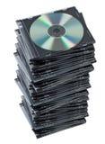 CD de la pila en el rectángulo aislado. fotos de archivo libres de regalías