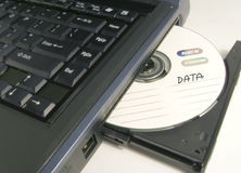 Cd de los datos Imagen de archivo libre de regalías