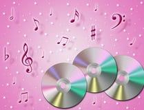 Cd de musique Image libre de droits