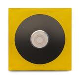 CD de noir avec le cas Photo stock