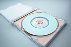 CD in de open doos Royalty-vrije Stock Foto's